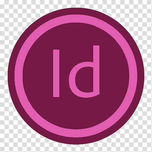 ID logo, pink purple brand symbol, App Adobe Indesign.