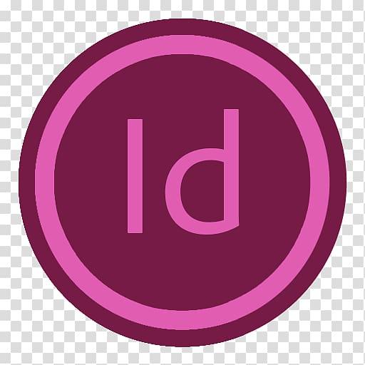 ID logo, pink purple brand symbol, App Adobe Indesign.