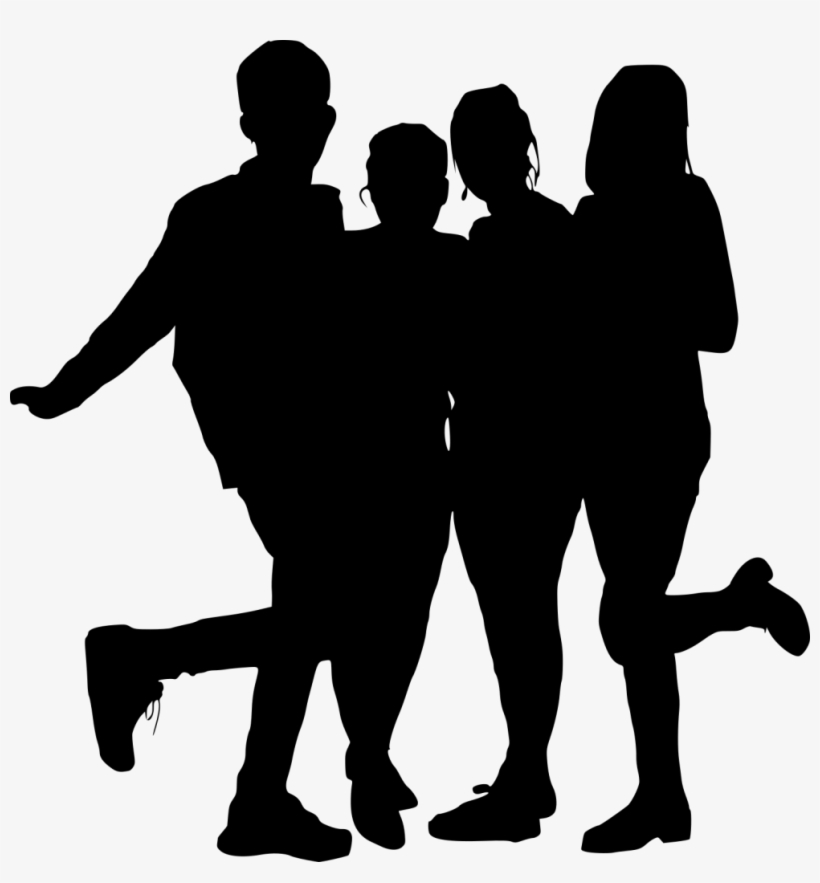 Free Png Group Photo Posing Silhouette Png Images.