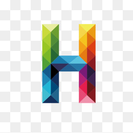 Colorful Letters H, Letter, Colorful, H #45478.