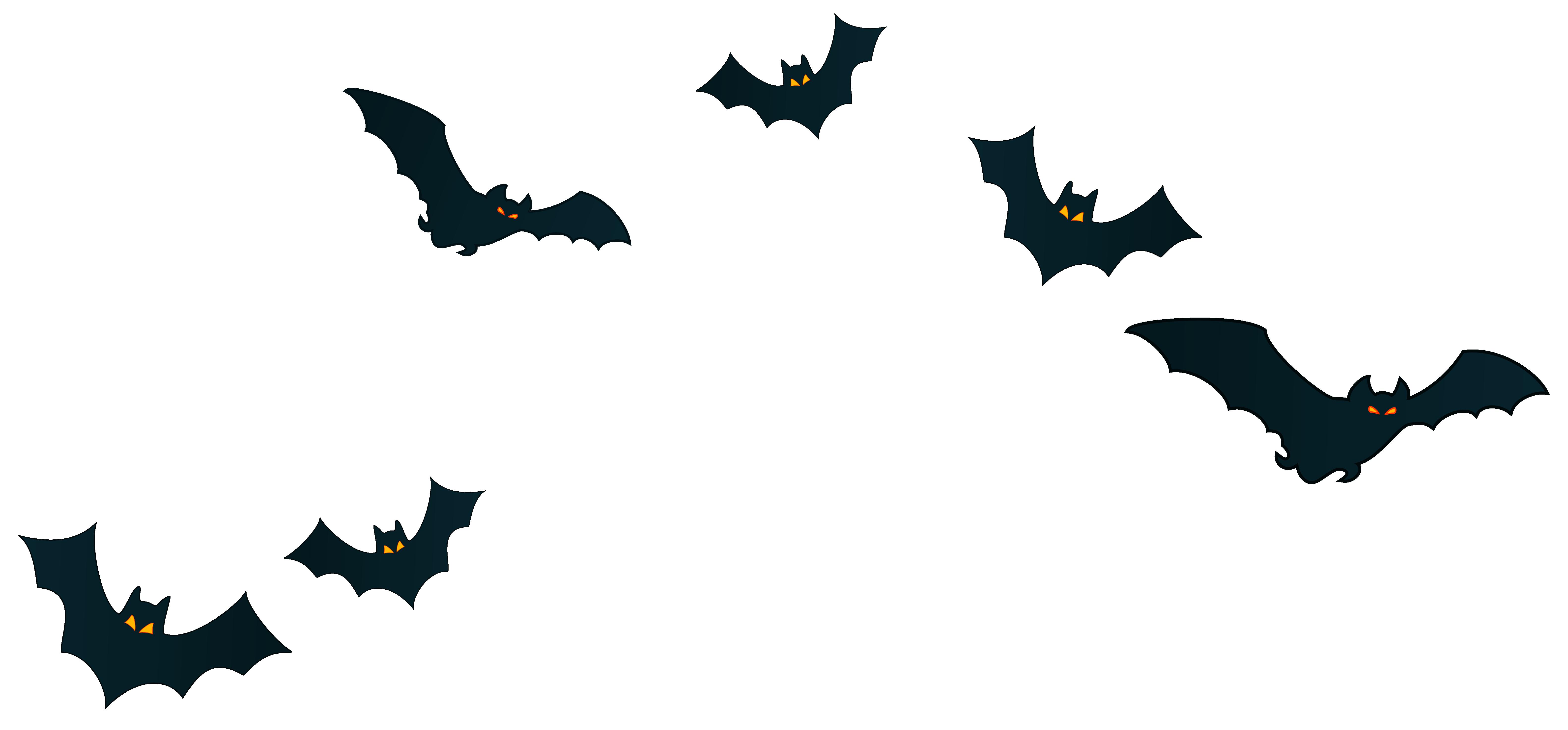 Halloween Bats Decor PNG Clipart Image.