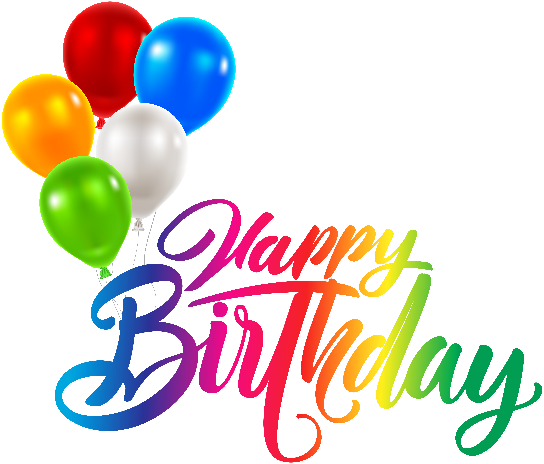 Happy Birthday PNG Transparent Clip Art.