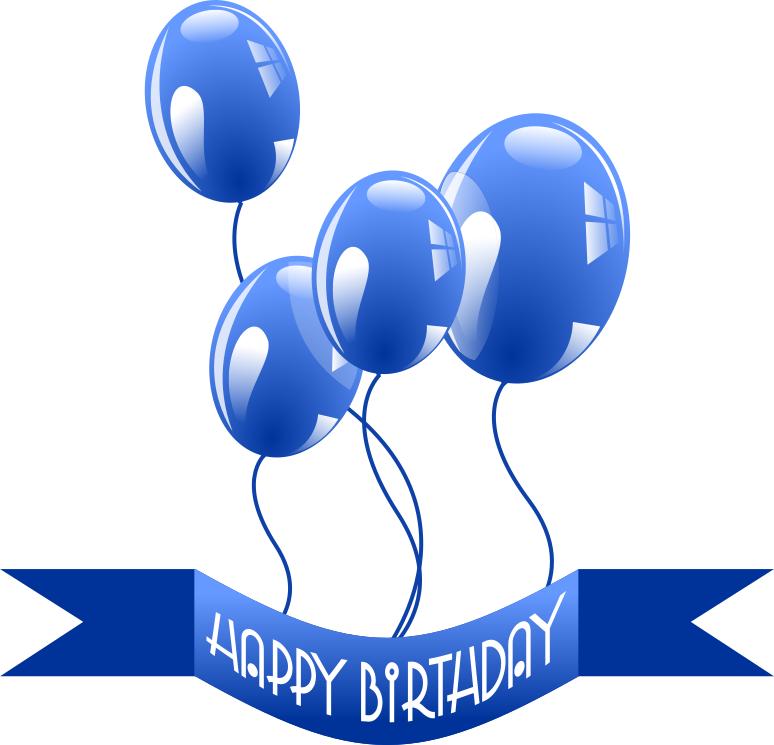 happy birthday banner balloons.