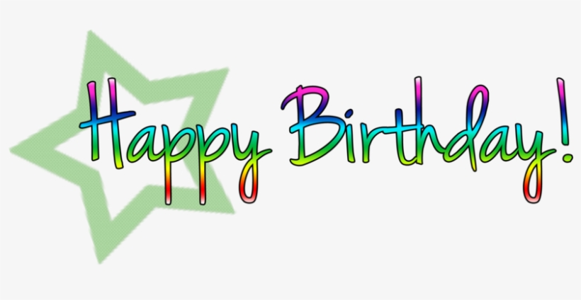 Happy Birthday Png Text PNG Image.
