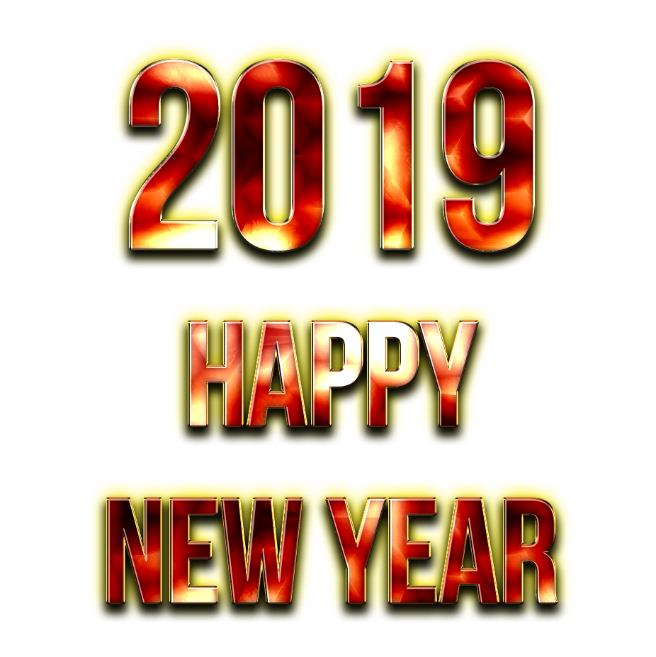 2019 Happy New Year PNG Free Image.