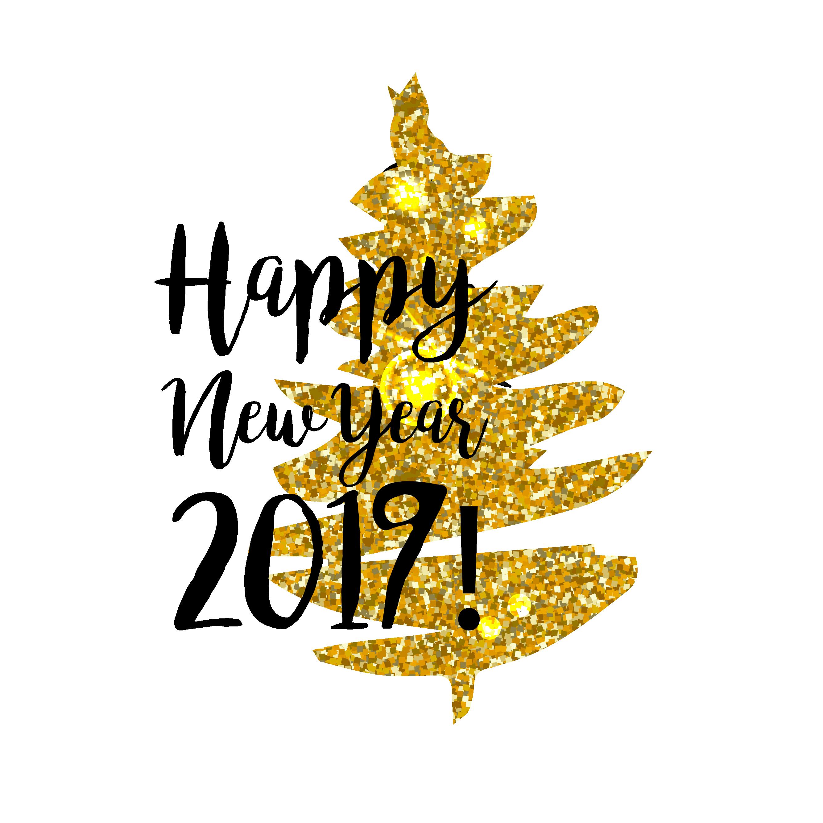 Happy New Year 2017 Celebration Card Design, Illustration.