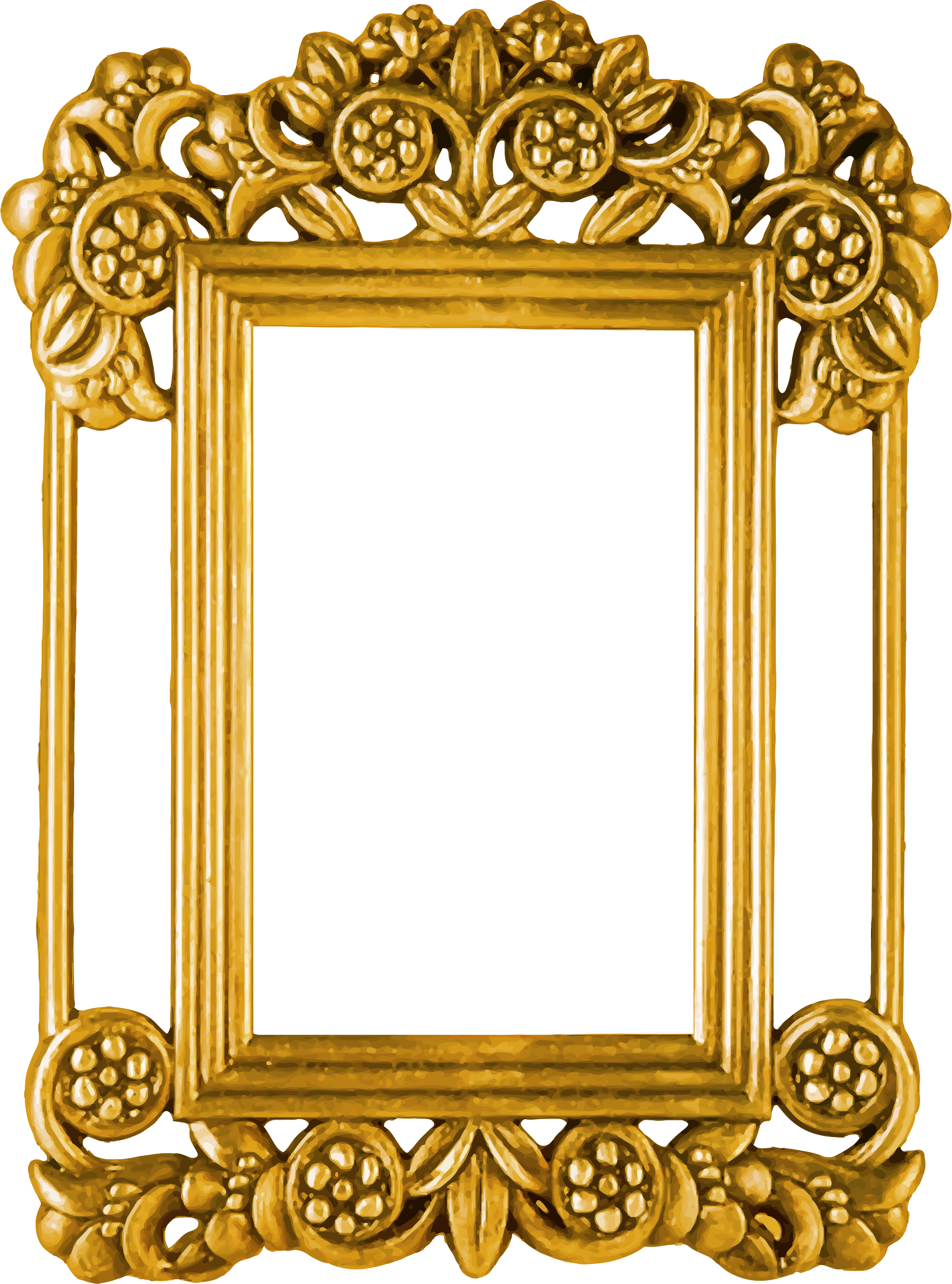 HD Ornate Picture Frame Png.