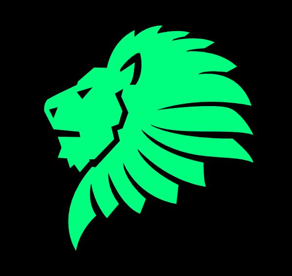 Lion Head Light Green Clip Art at Clker.com.