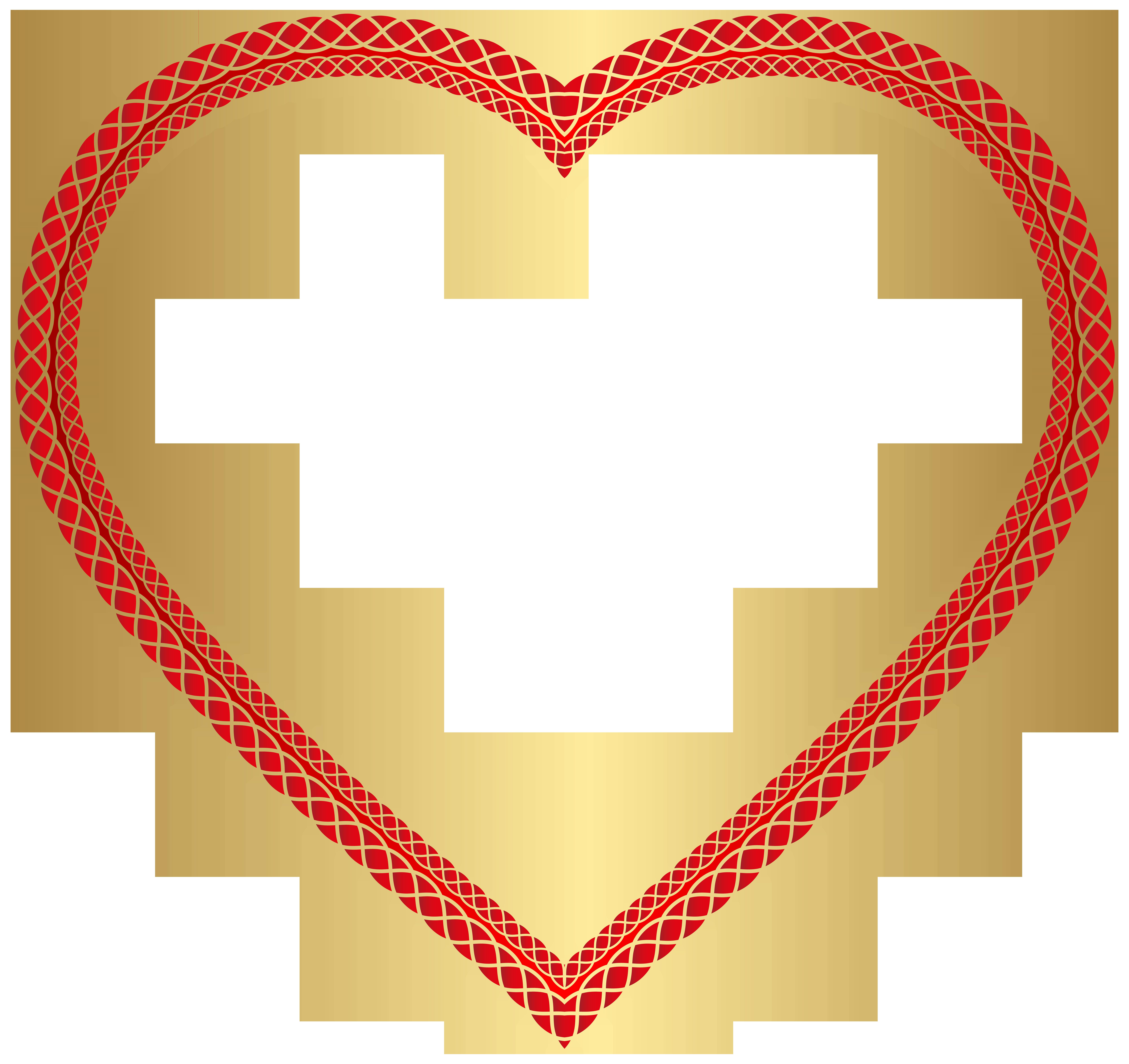 Transparent Heart Shape Clip Art Image.