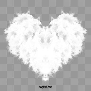 Heart Shaped Cloud PNG Images.
