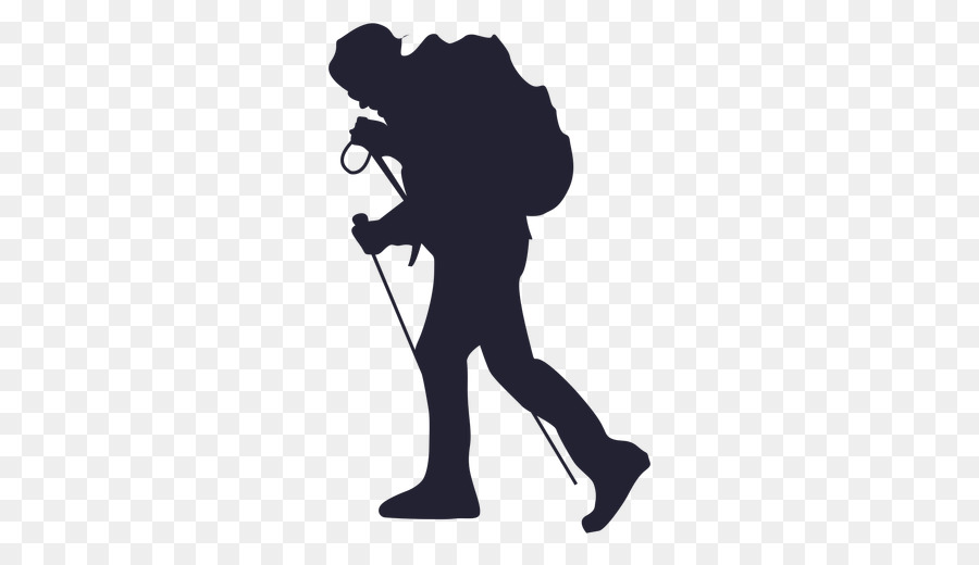 Hiking Standing png download.