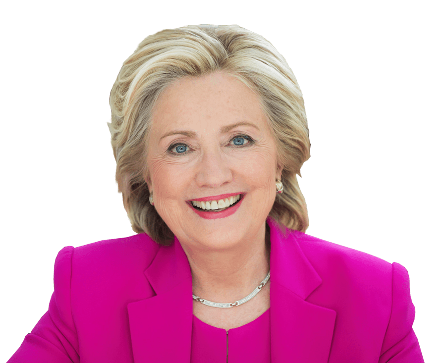 Hillary Clinton transparent background image.