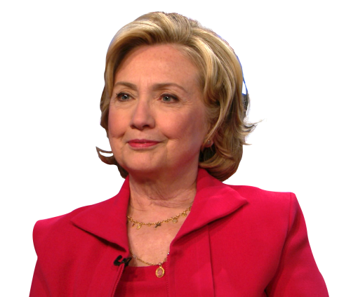 Hillary Clinton PNG High Quality Image.