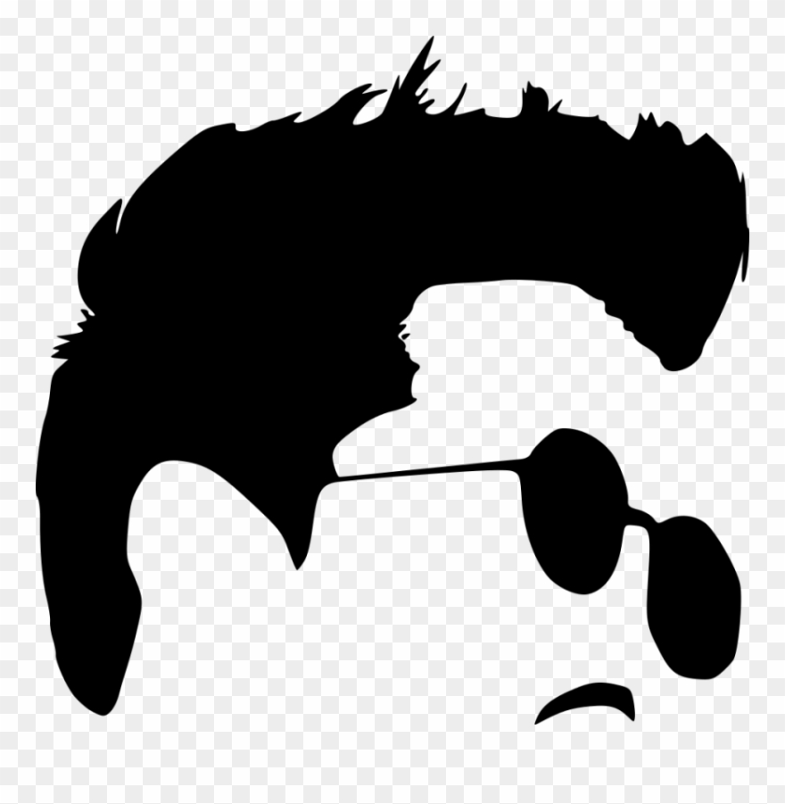 Free Png Hipster With Sunglasses Silhouette Png Images.