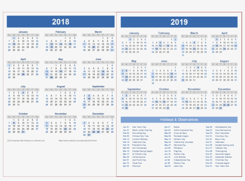 Free Png 2018 2019 Calendar Png Wallpaper Png Images.