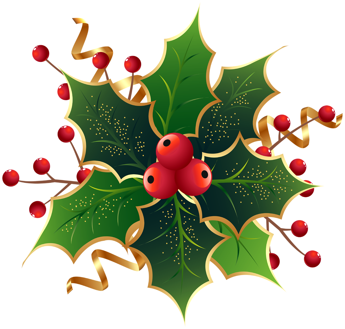 Christmas Holly png images free download.