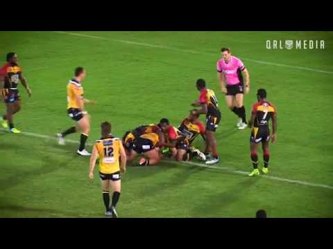 PNG Hunters vs SC Falcons Intrust Super Cup Round 6 2017.