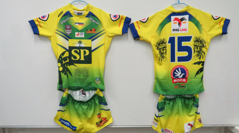 Specially designed jerseys for country week match.