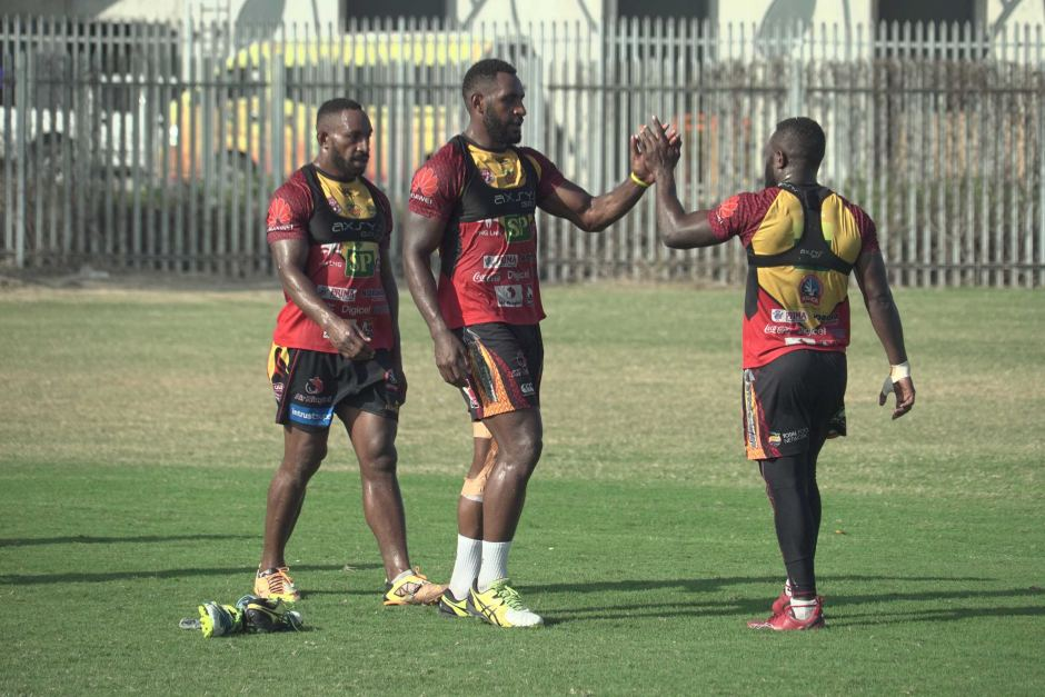 PNG Hunters players high.