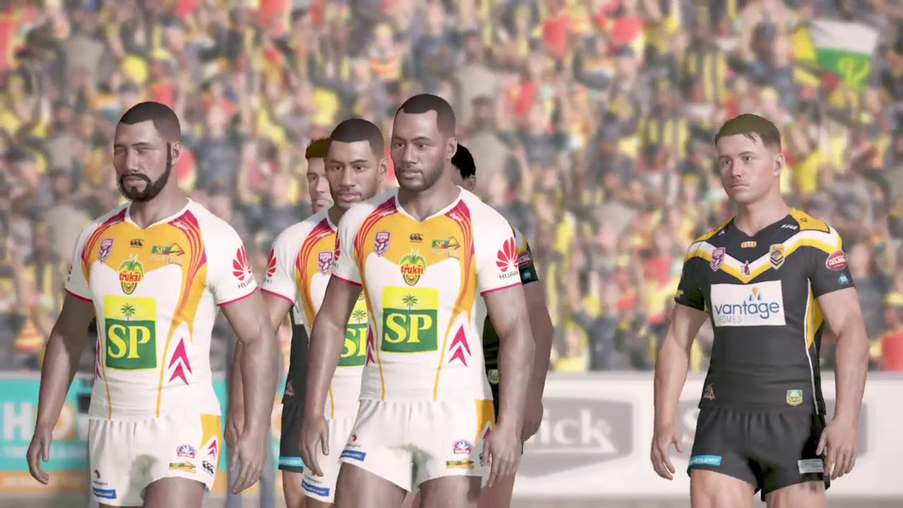 Rugby League Live 4 (PS4) PNG Hunters v Sunshine Coast Falcons (2017  Queensland Cup Grand Final).