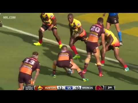 Brisbane Broncos VS PNG Hunters Match Highlights 2018 Trial.