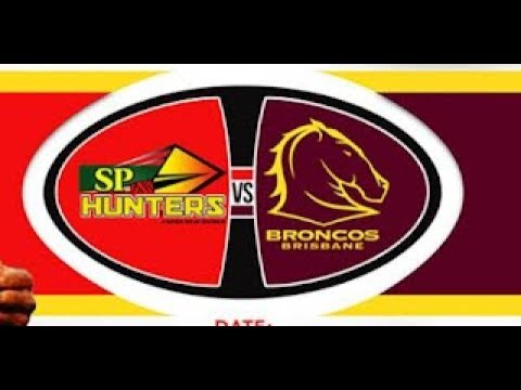 PNG Hunters VS Brisbane Broncos.