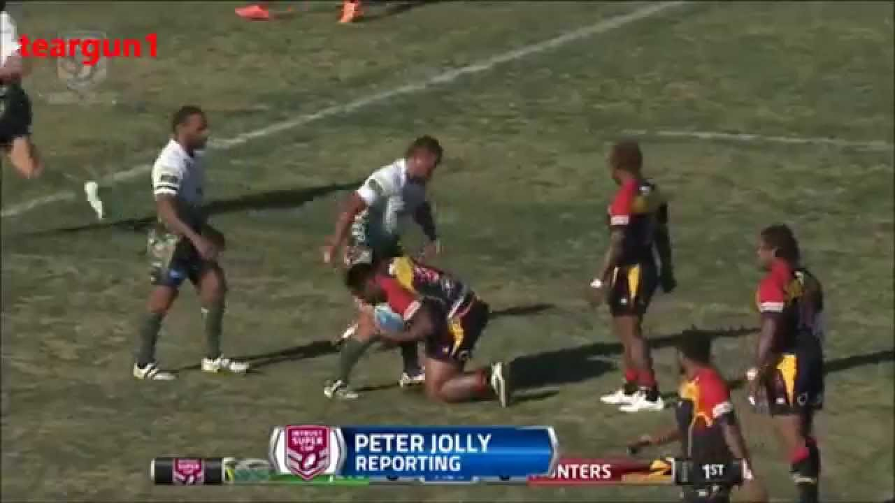 PNG Hunters Vs Ipswich Jets ISC RD22 Highlights 2015.