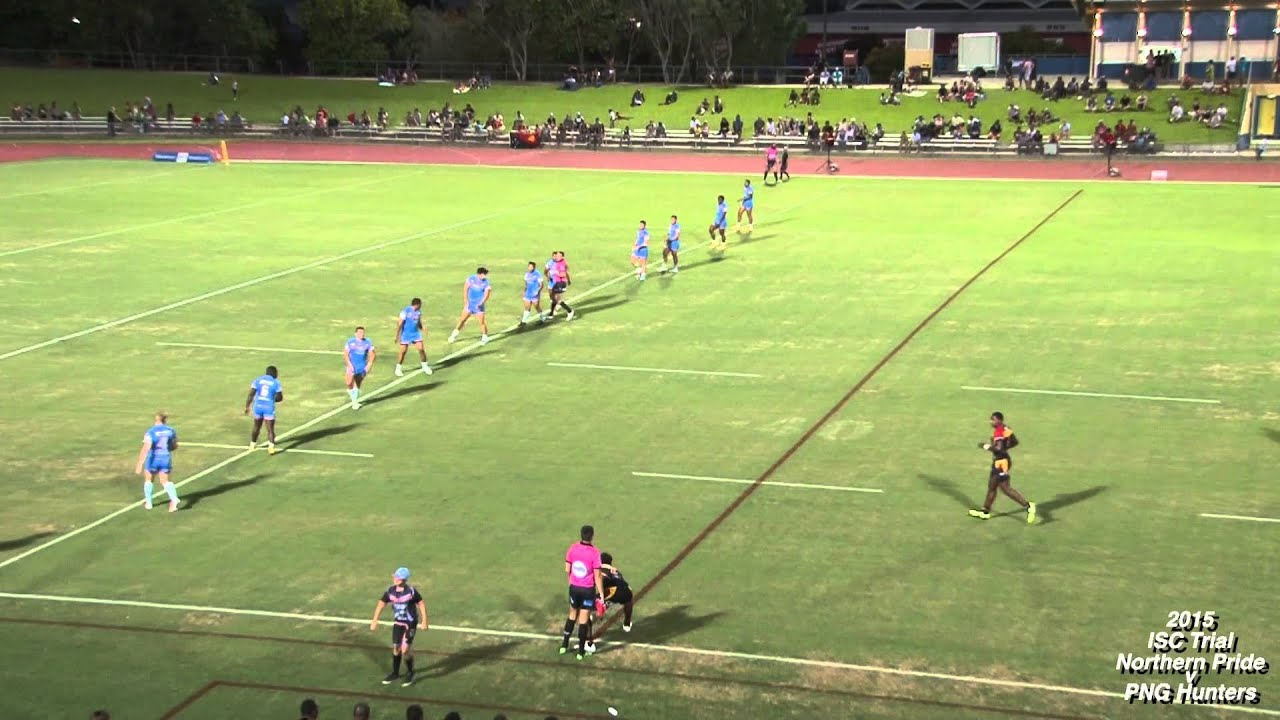 Willie Minoga Try ~ Northern Pride v PNG Hunters 2015 Trial.