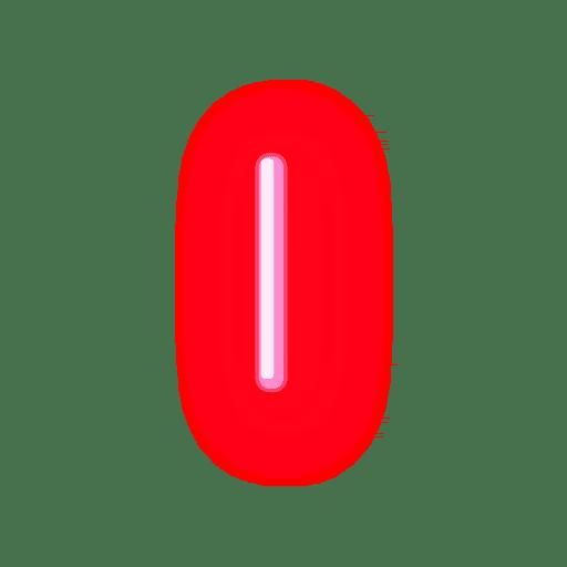 Letterhead red neon alphabet i.