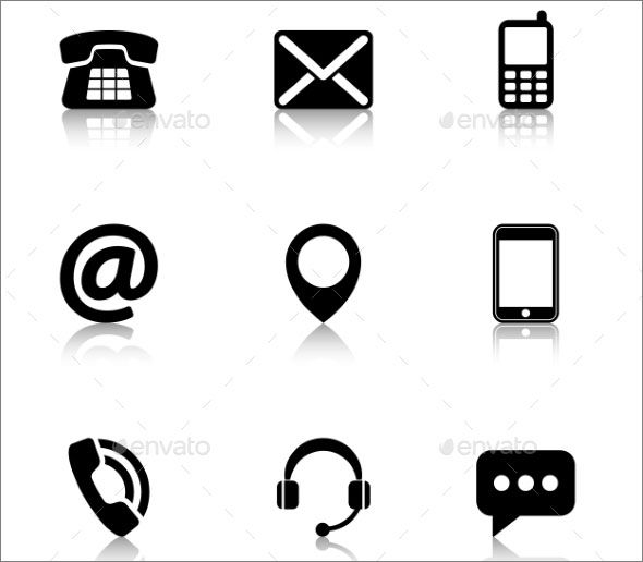 Professional Contact Icons For FREE.