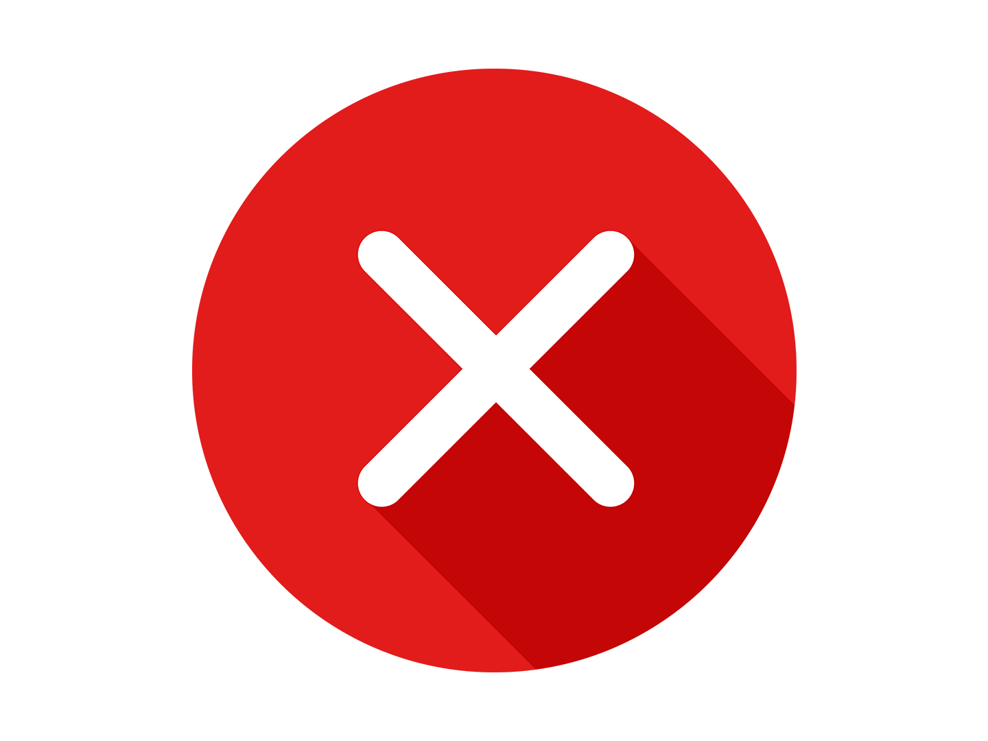 X Delete Round Flat Icon Free Download by Icons by Alfredo.