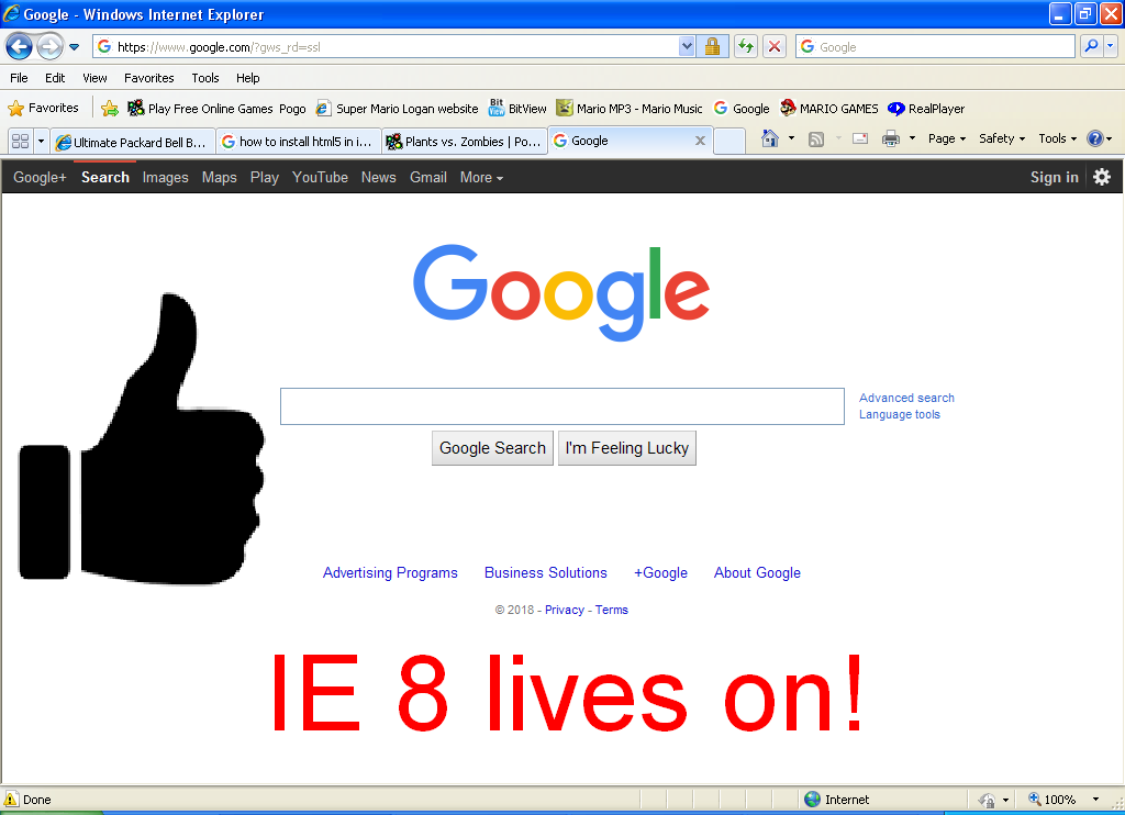 IE 8 in 2018?.