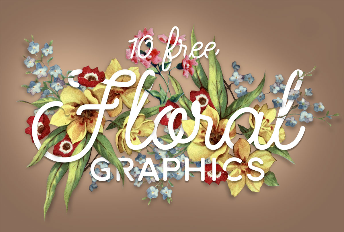 10 Free Floral PNG Graphics of Flowers & Bouquet Illustrations.