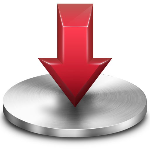 Red Download Folder Icon.