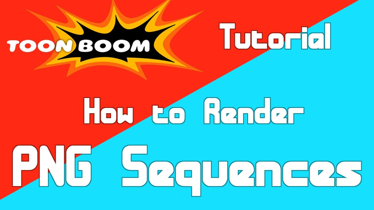 How to Render a PNG Sequence in Toon Boom.