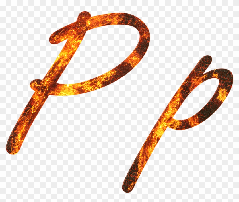Letter P Fire Embers Lava Font Write Type Fonts.