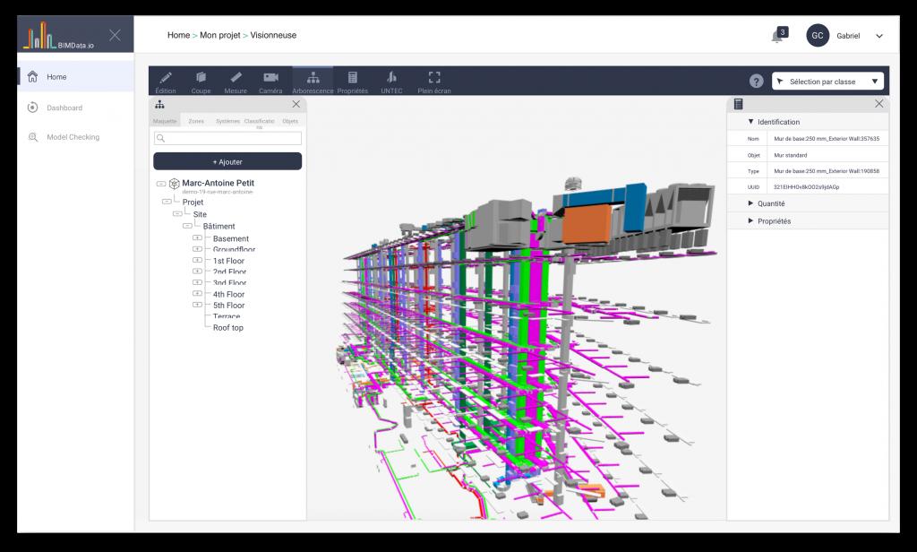 BIMData™ Online 3D BIM Viewer.