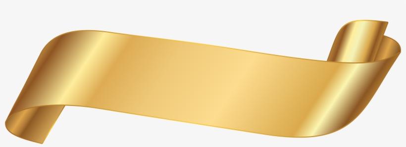 Gold Ribbon Banner Png.