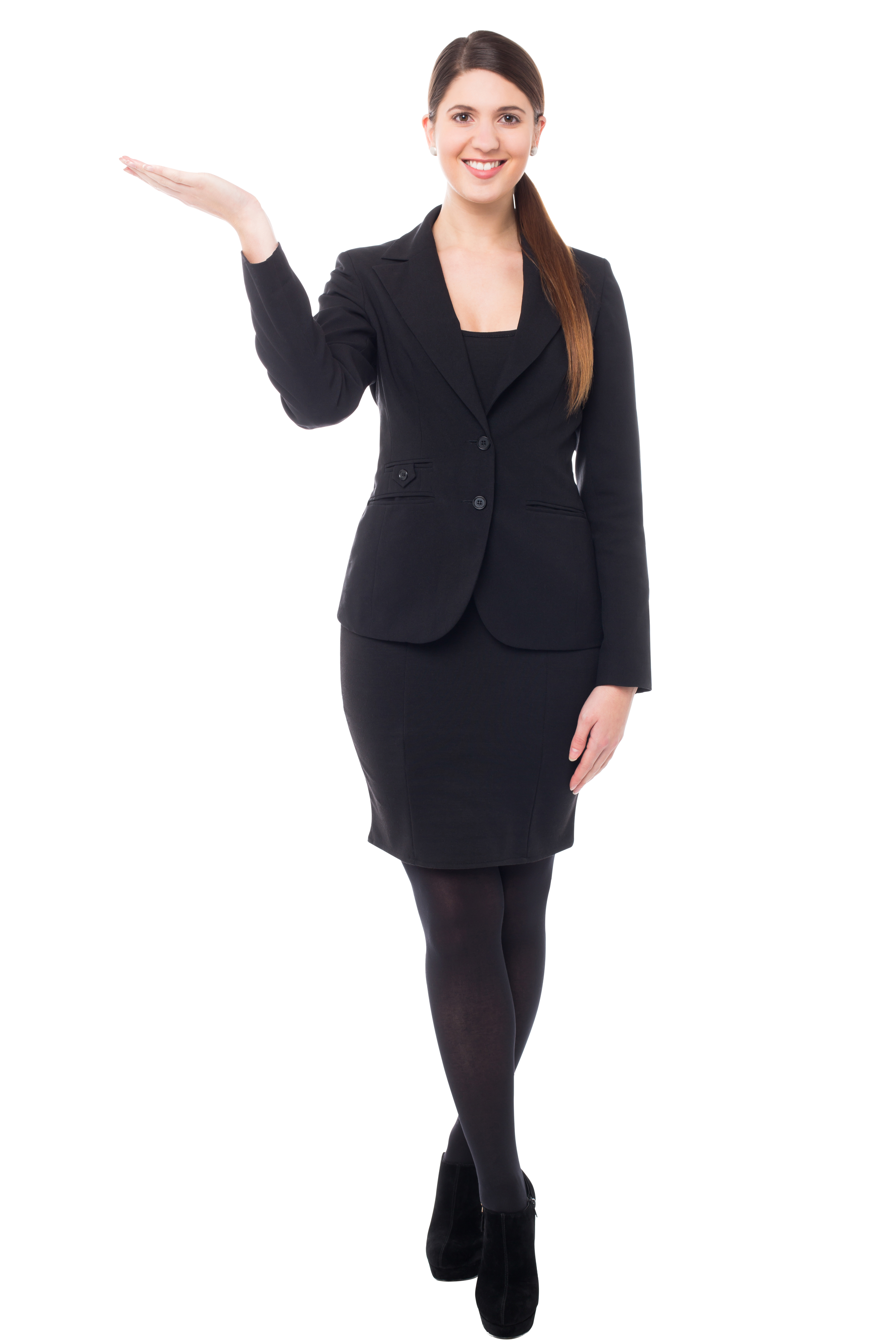 Girl Pointing Left Free Commercial Use PNG Images.
