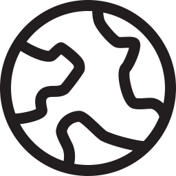 Earth Icon Outline.