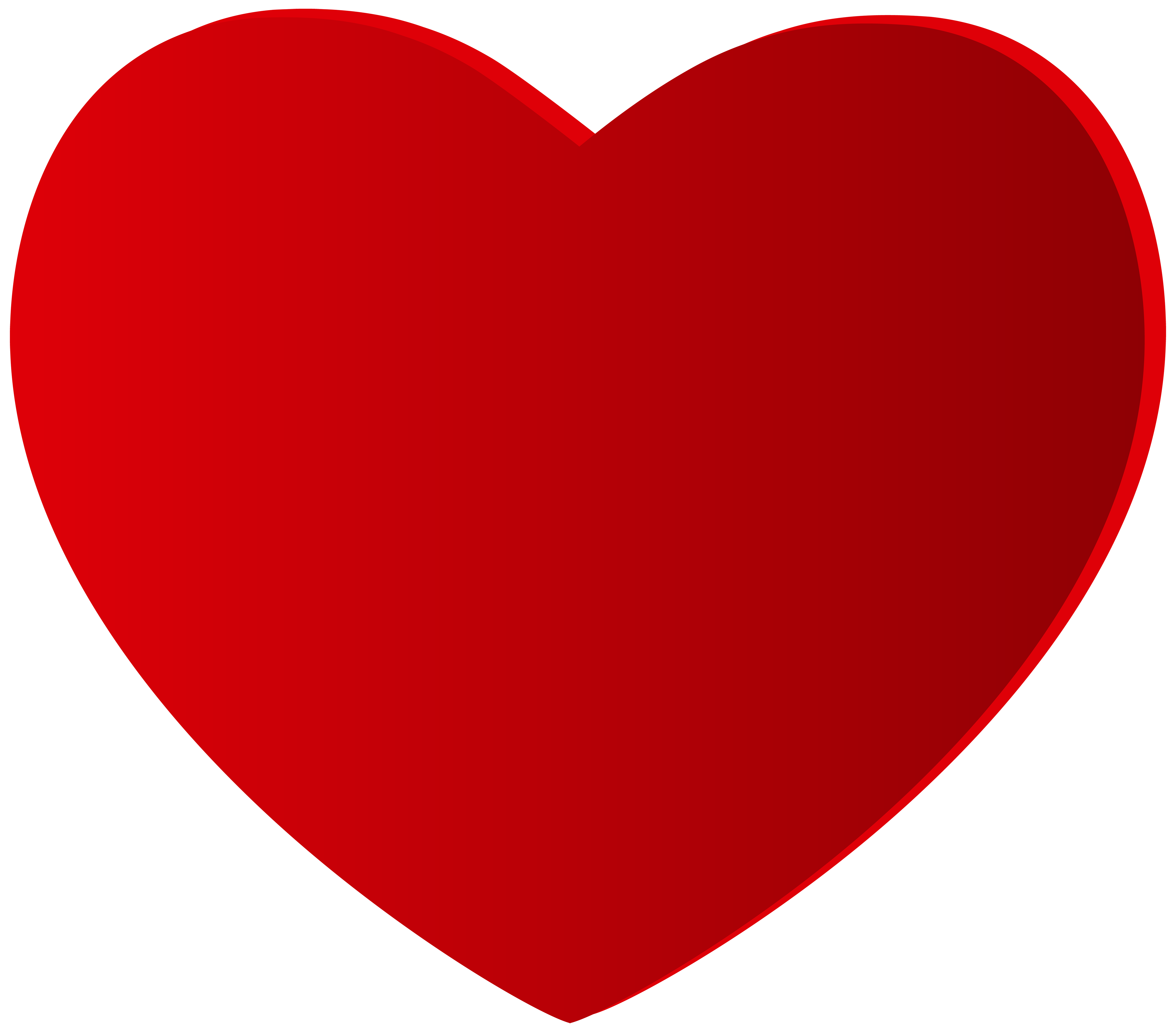 Large Red Heart PNG Clipart.