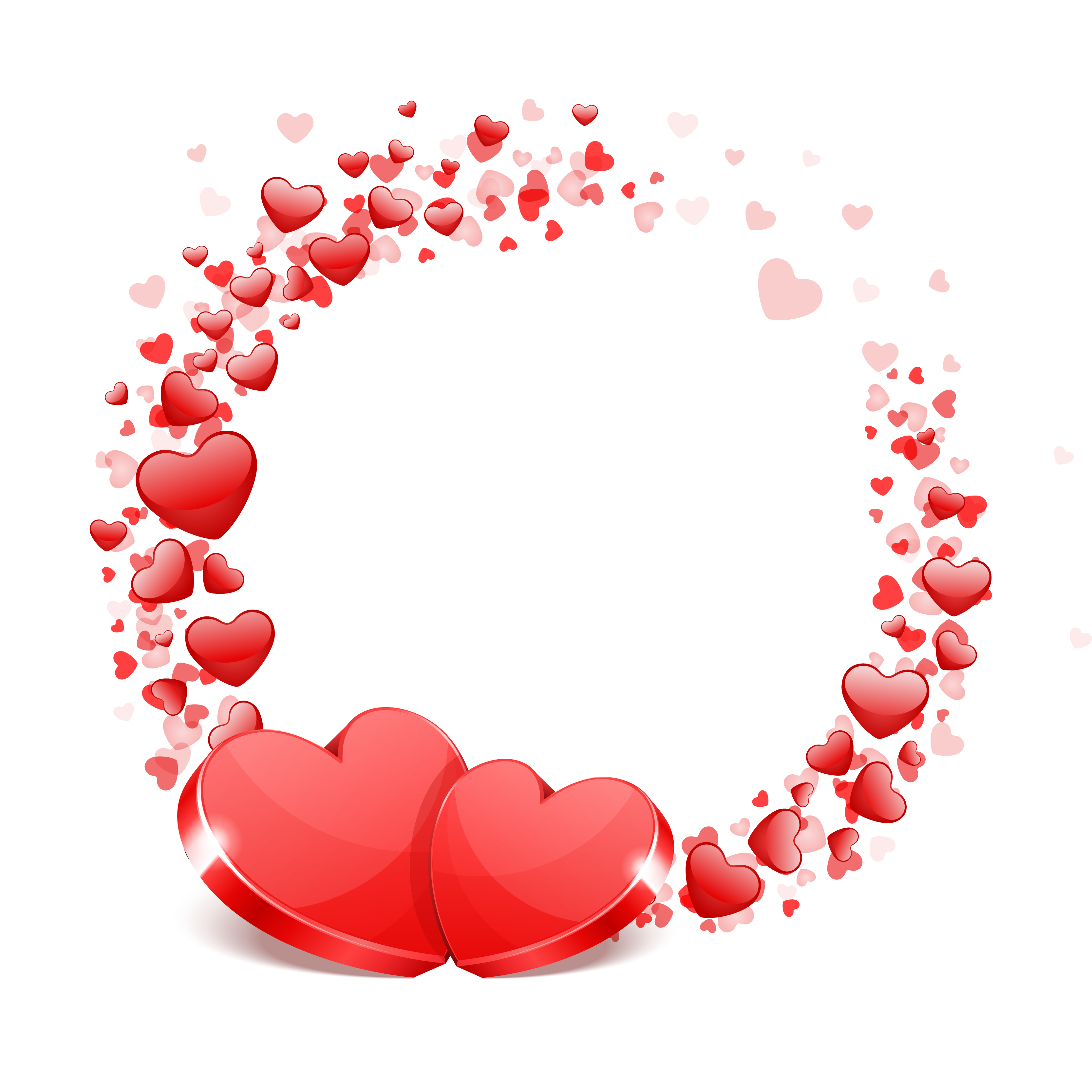 Red Hearts, Festive, Love PNG and Vector with Transparent.
