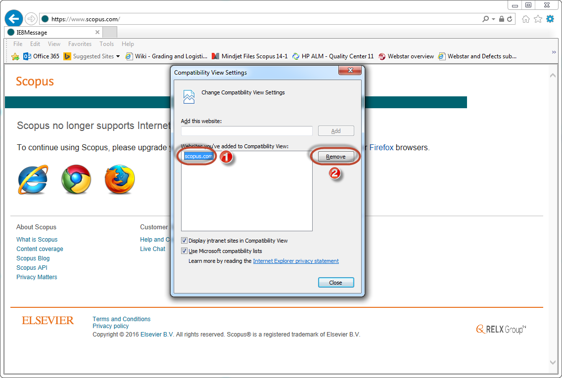 How to resolve Internet Explorer 11 (IE11) compatibility.