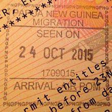 Visa policy of Papua New Guinea.