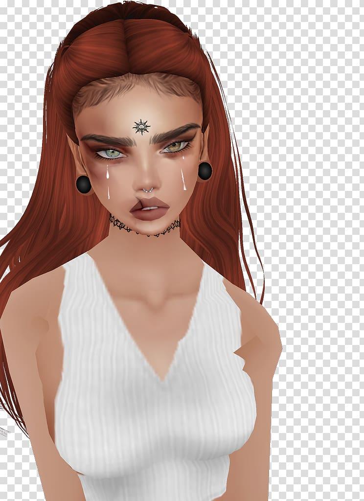 IMVU Avatar Forehead, avatar transparent background PNG.