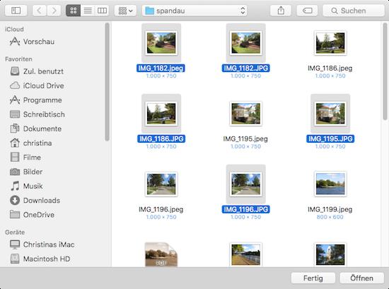 Bilder unter Mac OS X in anderes Format exportieren.