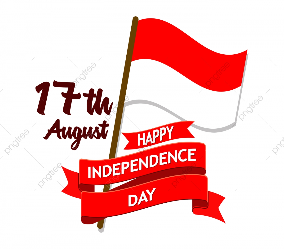 Indonesia Independence Day Flag Badge, Png, Decoration.