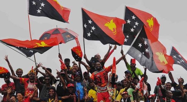 PNG raises the flag for 40 years independence.