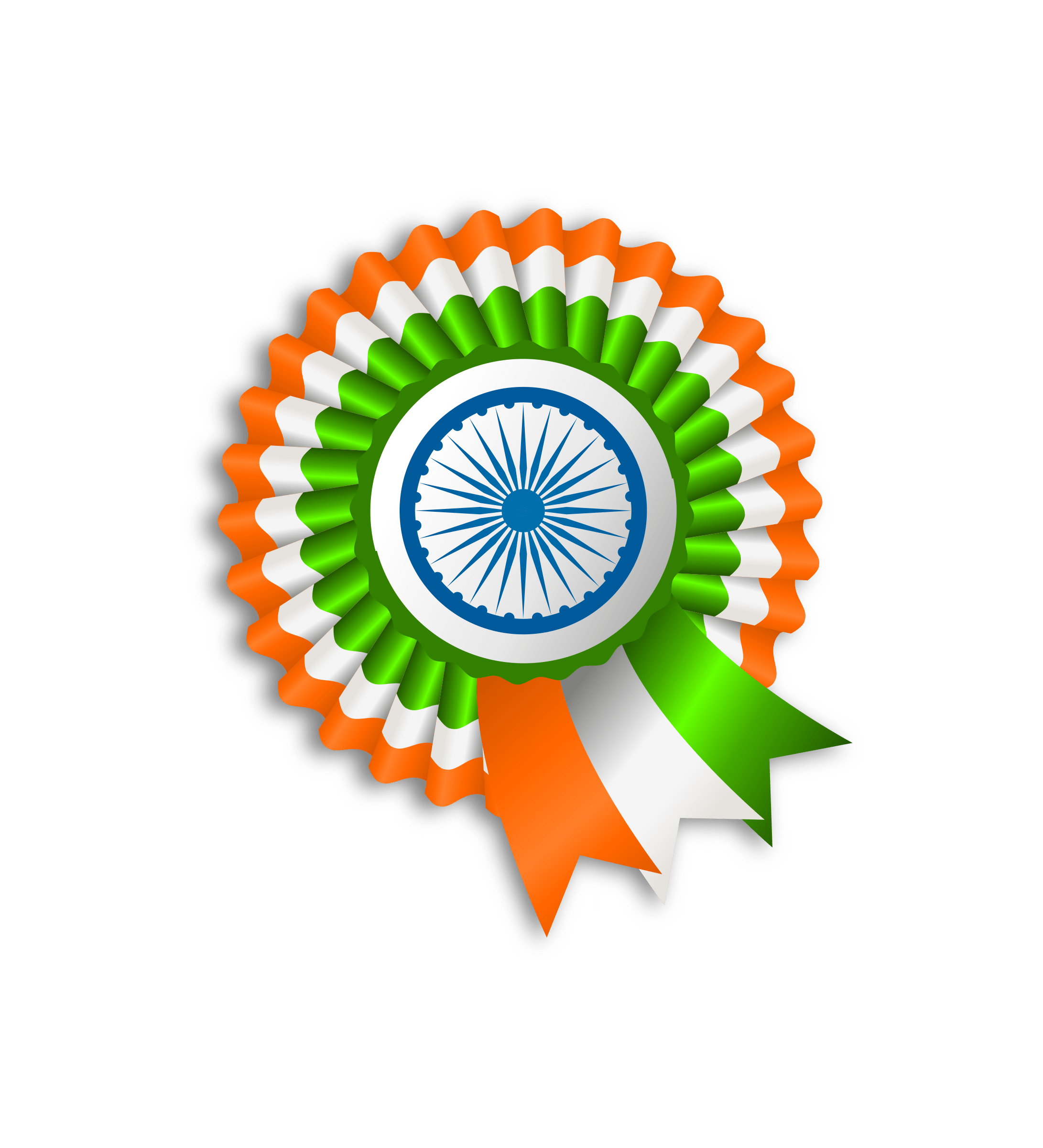 Ribbon India Flag transparent PNG.