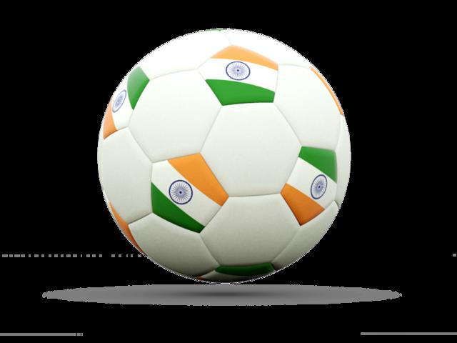 Football icon. Illustration of flag of India.